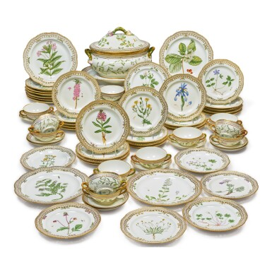 View 3. Thumbnail of Lot 150. A ROYAL COPENHAGEN 'FLORA DANICA' OVAL TUREEN, COVER AND STAND, MODERN.