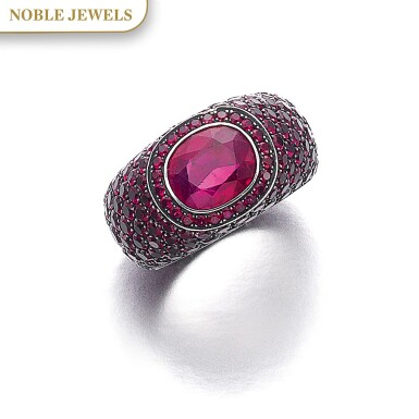 View 1. Thumbnail of Lot 307. HEMMERLE   RUBY RING.