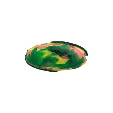 View 3. Thumbnail of Lot 1005. An emerald-green and yellow double-overlay pink glass 'silkworms' snuff bottle Yangzhou school, Qing dynasty, 19th century   清十九世紀 揚州作粉紅地套黃綠料錦衣玉食圖鼻煙壺.
