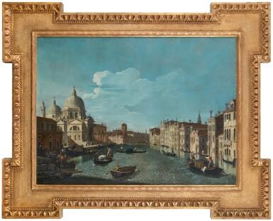 View 5. Thumbnail of Lot 203. Venice, a view of the Grand Canal with the Chiesa di Santa Maria della Salute; Venice, a view of the Santa Chiara Canal, looking south-east along the Fondamenta della Croce.
