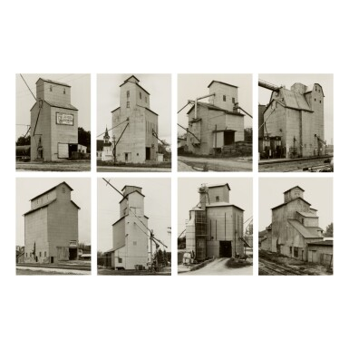 BERND AND HILLA BECHER   'GRAIN ELEVATORS, HOUSE KIND'