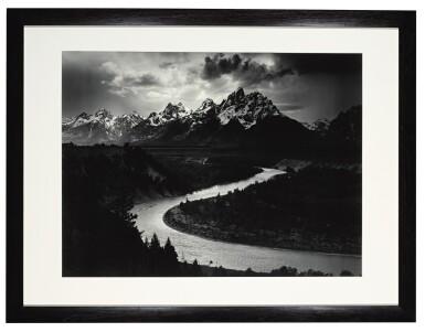 View 2. Thumbnail of Lot 53. The Grand Tetons and the Snake River, Grand Teton National Park, Wyoming.