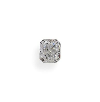 A 1.01 Carat Cut-Cornered Rectangular Modified Brilliant-Cut Diamond, G Color, VS1 Clarity