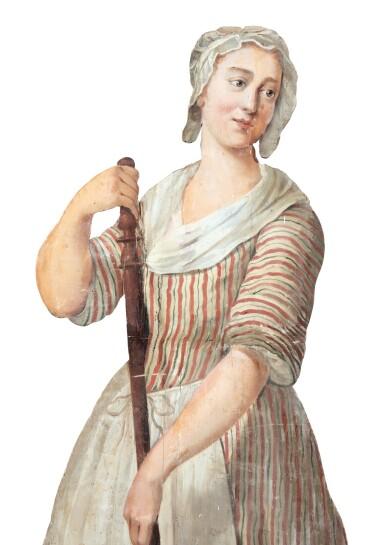 View 4. Thumbnail of Lot 68. FRANCO-FLEMISH SCHOOL, LATE 18TH CENTURY | TROMPE L'OEIL : A WOMAN CLEANING [ECOLE FRANCO-HOLLANDAISE, DE LA FIN DU XVIIIE SIÈCLE |  TROMPE-L'OEIL : FEMME BALAYANT].