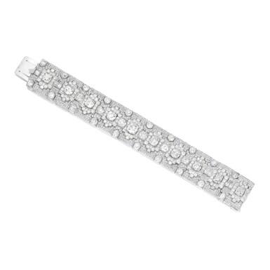 DIAMOND BRACELET, CARTIER, PARIS | 鑽石手鏈,卡地亞
