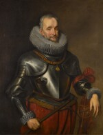 Portrait of Ambrogio Spinola, 1st Marquess of Los Balbases (1569-1630), three-quarter length, wearing a breastplate and the collar and badge of the Order of the Golden Fleece, a Field Marshal's baton in his right hand