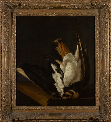 View 2. Thumbnail of Lot 45. ISAACK ADAMSZ. DE COLONIA | Still life with a Northern lapwing.