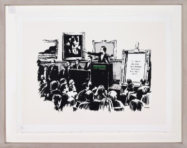 View 2. Thumbnail of Lot 35. BANKSY | MORONS.