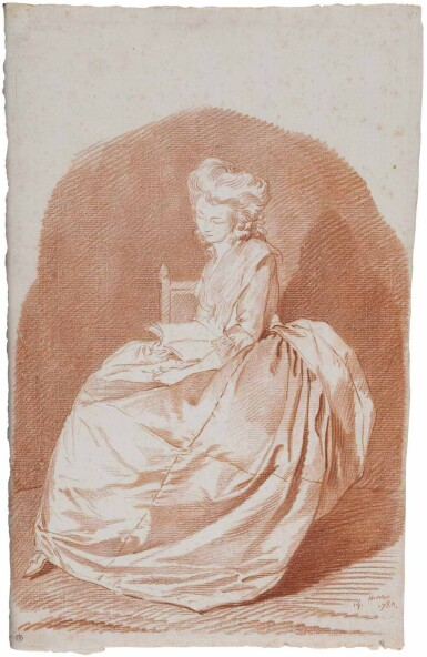 View 1. Thumbnail of Lot 2. LOUIS ROLAND TRINQUESSE | PORTRAIT OF MARIANNE FRANMERY.