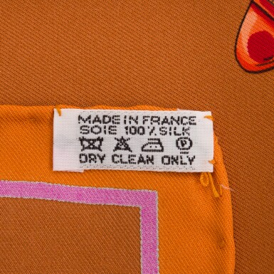 """View 4. Thumbnail of Lot 143. Hermès """"Aux Pays des Epices"""" Silk Twill Scarf 90cm."""