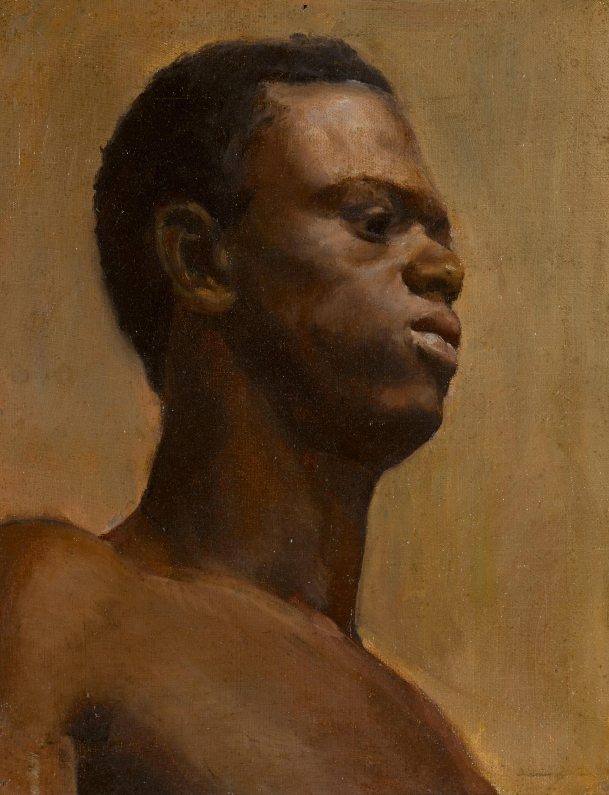 View 1 of Lot 184. Study of a man, bust-length.