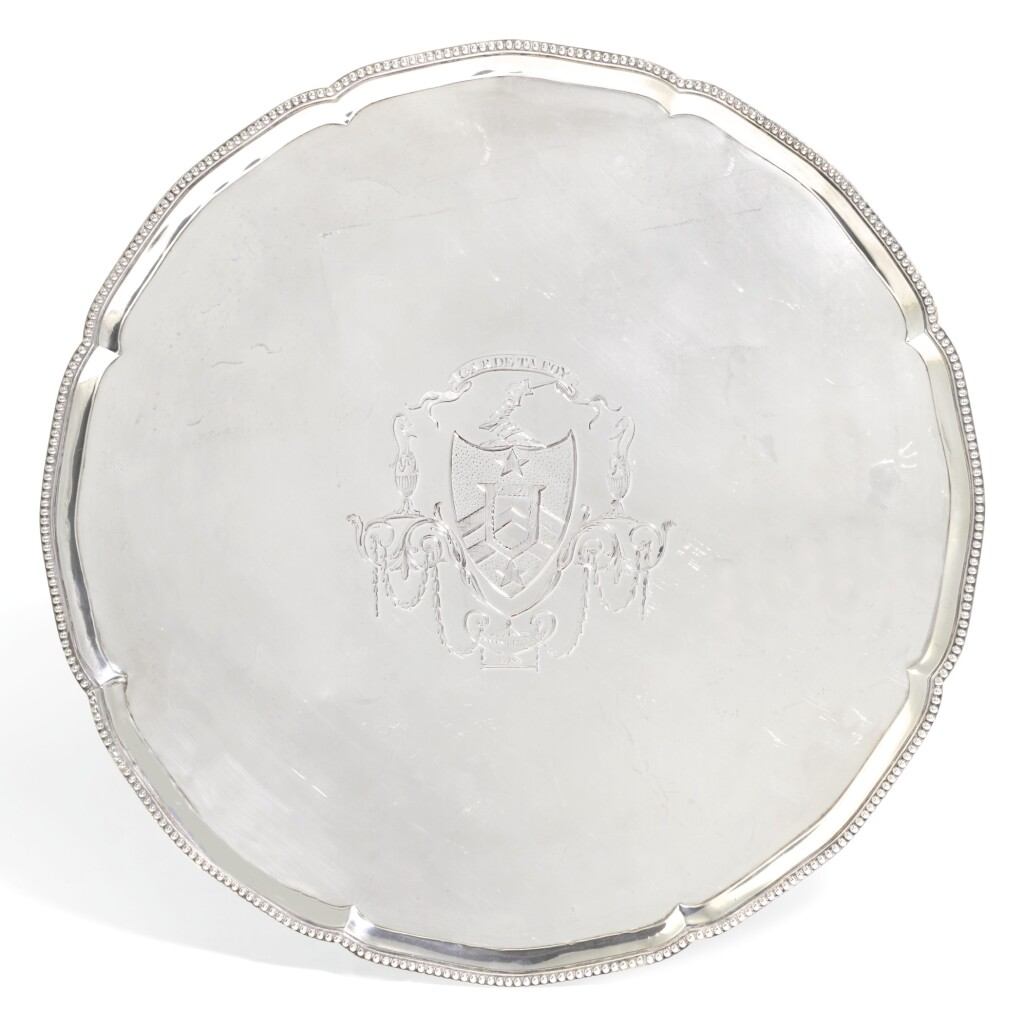 A GEORGE III SILVER SALVER, ROBERT JONES & JOHN SCOFIELD, LONDON, 1775