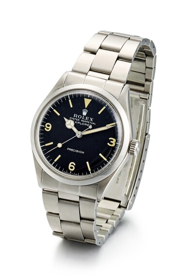 View 2. Thumbnail of Lot 8086. ROLEX   EXPLORER, REFERENCE 5500, A STAINLESS STEEL WRISTWATCH WITH BRACELET, CIRCA 1971.