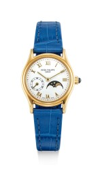 PATEK PHILIPPE | REFERENCE 4856 A YELLOW GOLD WRISTWATCH WITH MOON PHASES, CIRCA 1997