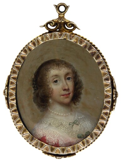 CORNELIUS JOHNSON (ALSO KNOWN AS CORNELIS JANSSENS VAN CEULEN) | PORTRAIT OF A LADY, TRADITIONALLY IDENTIFIED AS HENRIETTA MARIA, QUEEN OF ENGLAND, CIRCA 1635