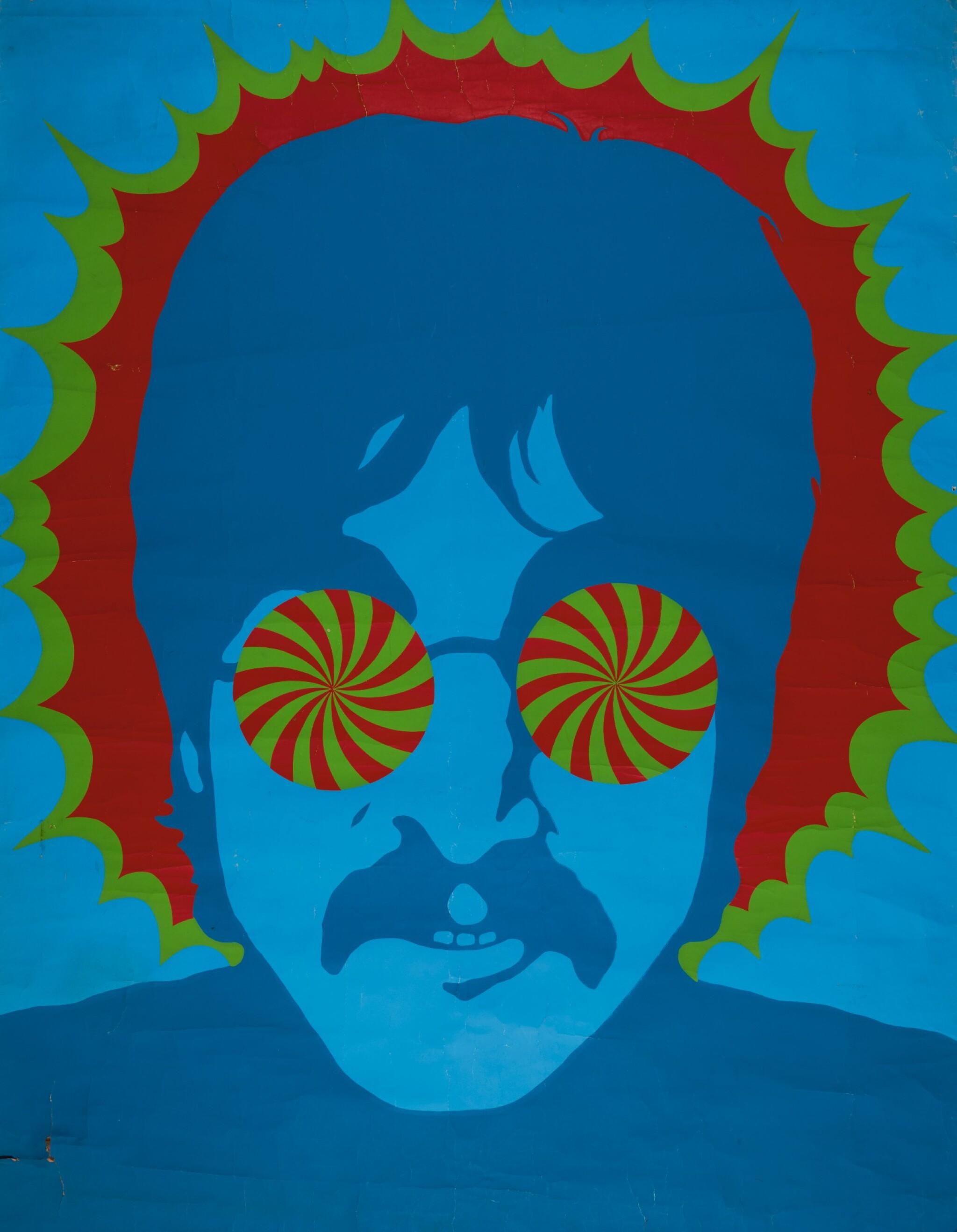 LARRY SMART   Kaleidoscope Eyes, John Lennon, original poster from the Apple Boutique
