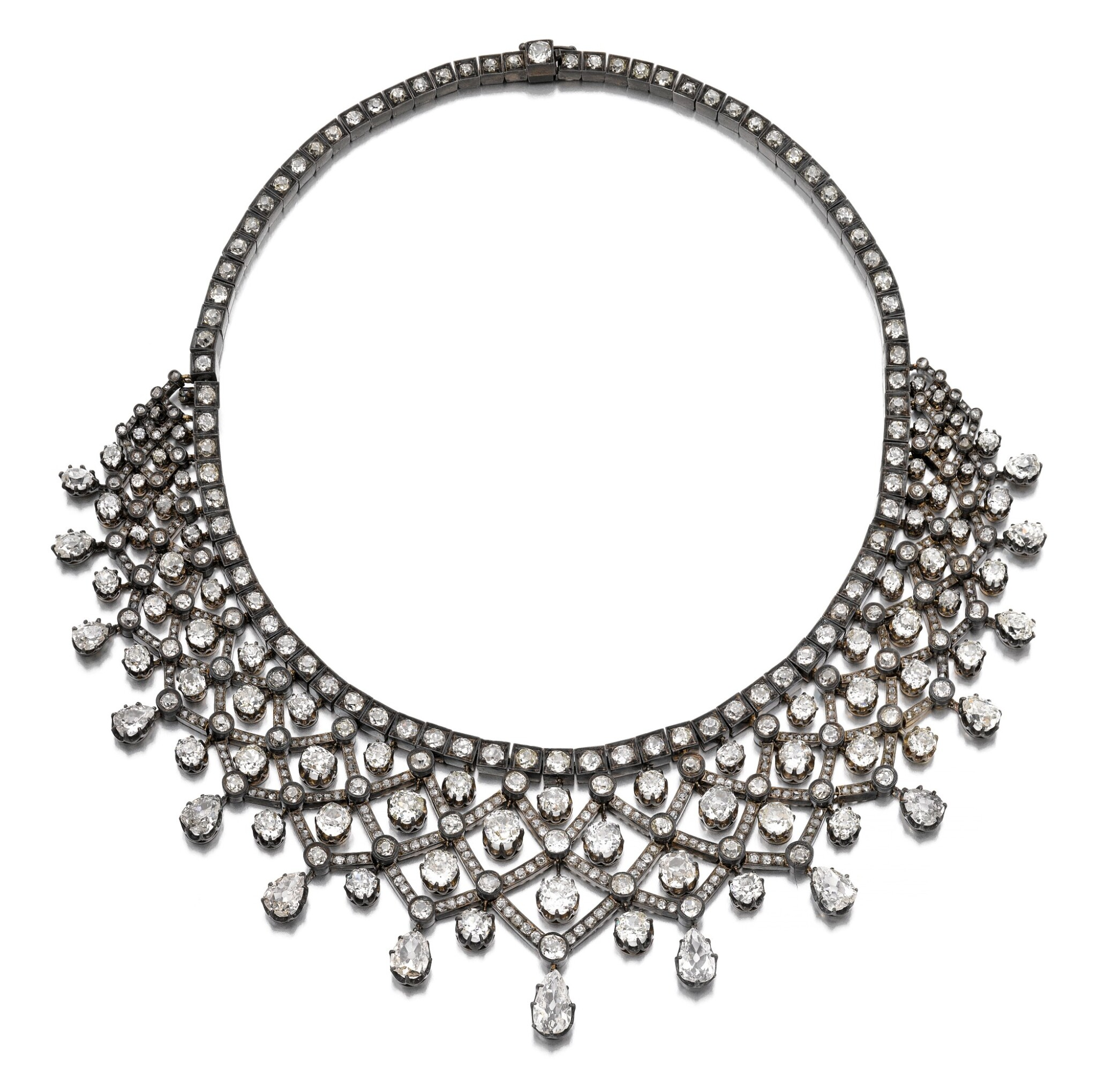 View full screen - View 1 of Lot 190. DIAMOND NECKLACE [鑽石項鏈,十九世紀末].