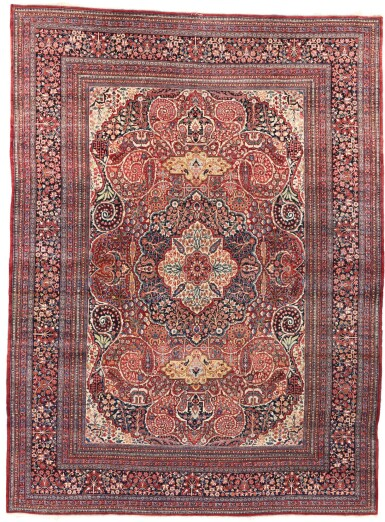 AN INSCRIBED AND DATED MASHAD CARPET, NORTHEAST PERSIA