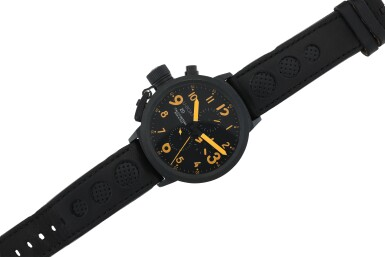 REFERENCE 5055 FLIGHTDECK A LARGE BLACK-COATED STAINLESS STEEL AUTOMATIC CHRONOGRAPH WRISTWATCH WITH DATE, CIRCA 2007