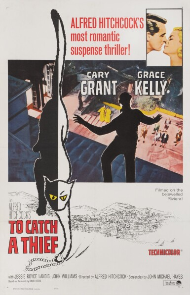 View 1. Thumbnail of Lot 70. TO CATCH A THIEF (1955) POSTER, US.