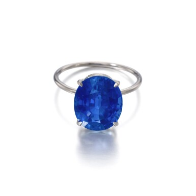 View 1. Thumbnail of Lot 1145. Sapphire ring.