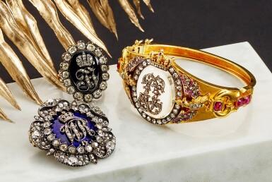 View 5. Thumbnail of Lot 9007. Diamond and Enamel Ring, Late 19th Century | 鑽石 配 琺瑯彩 戒指,19世紀末.