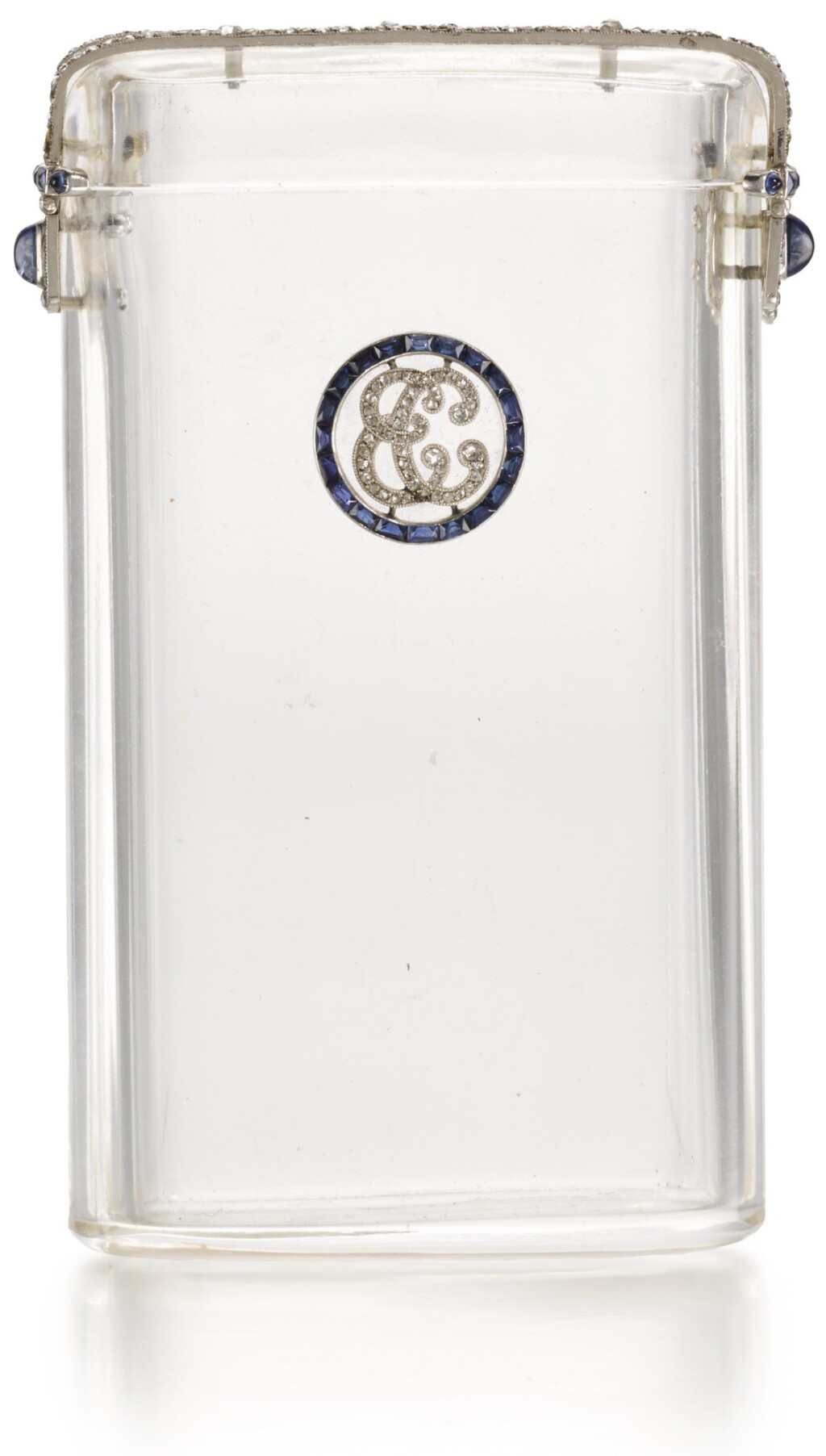 A JEWELLED ROCK-CRYSTAL CIGARETTE CASE, FRENCH, PROBABLY 1925,