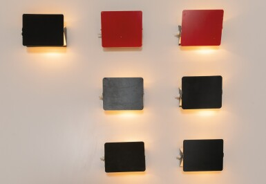 View 5. Thumbnail of Lot 3. Set of fourteen CP1 wall lights, designed in 1962        .