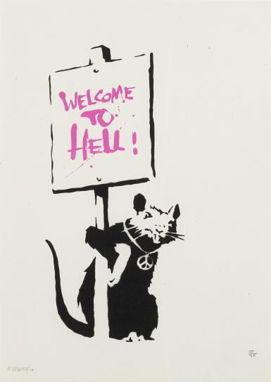 BANKSY   WELCOME TO HELL