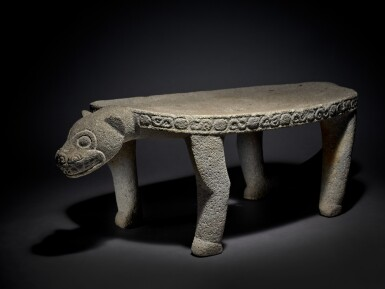 View 3. Thumbnail of Lot 95. Costa Rican Stone Jaguar Metate, Atlantic Watershed Region Period VI, circa AD 1000 - 1500.