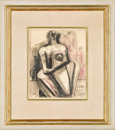 View 2. Thumbnail of Lot 683. HENRY MOORE   SEATED WOMAN.