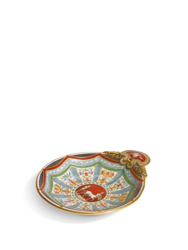 A Porcelain Oyster Dish from the Raphael Service, Imperial Porcelain Factory, St. Petersburg, 1899