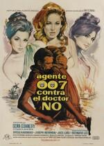 Dr. No / Agente 007 Contra el Doctor No (1962) poster, Spanish