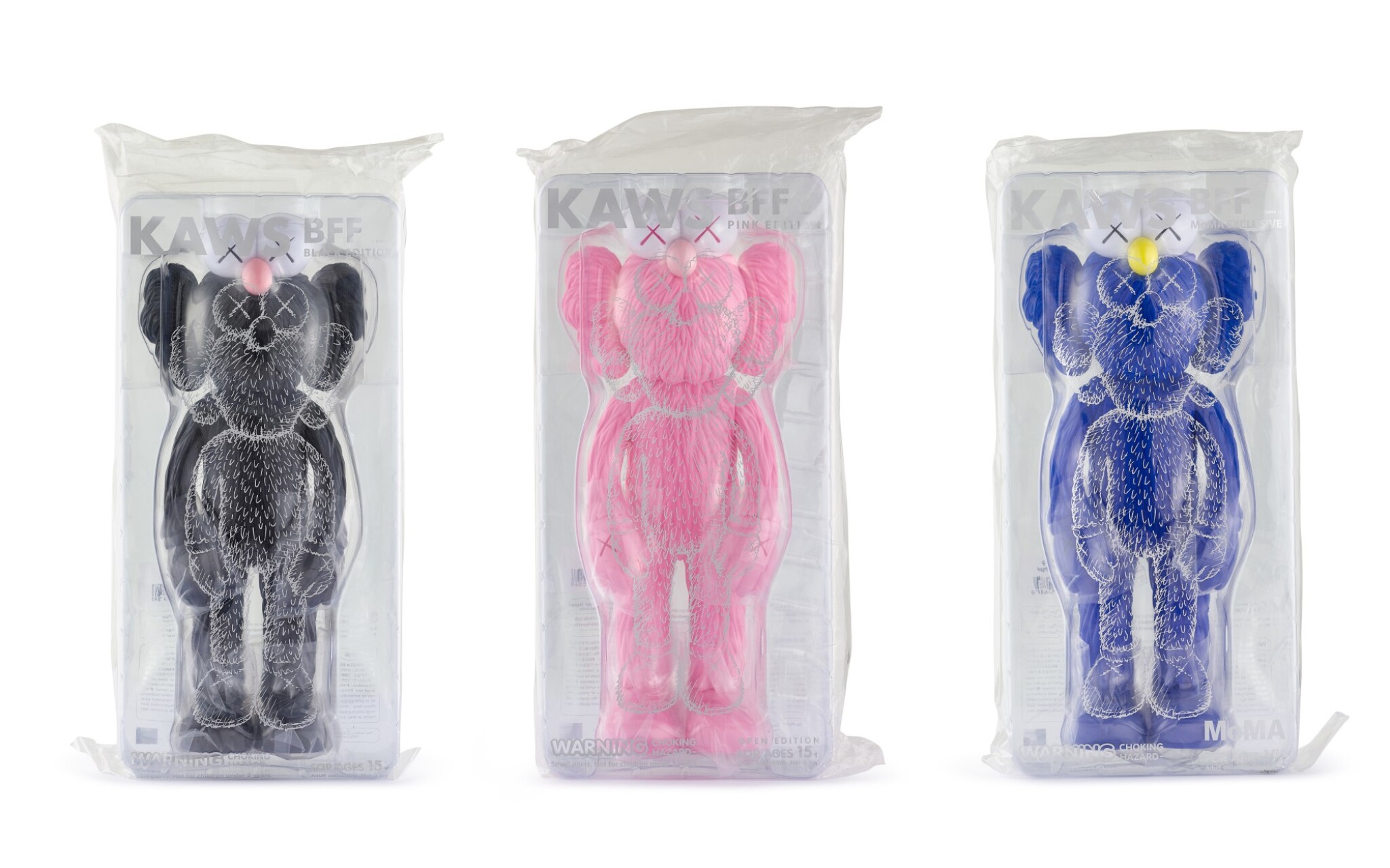 KAWS | BFF- 黑色版/粉紅粄/MOMA獨家版(三件)BFF - Black Edition/Pink Edition/MOMA Exclusive (three works)