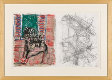 View 2. Thumbnail of Lot 20. ASIM ABU SHAKRA | UNTITLED (AIRPLANES, CACTUS PLANTS ON THE WINDOW).