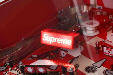View 3. Thumbnail of Lot 1. SUPREME STERN PINBALL MACHINE.