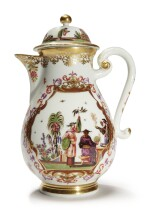 A RARE MEISSEN CHINOISERIE COFFEE POT AND COVER CIRCA 1725-28