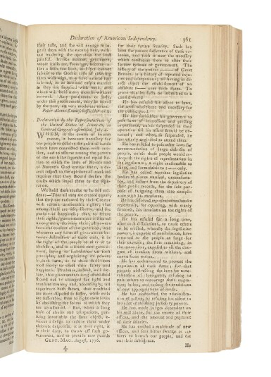 """""""THE DECLARATION OF INDEPENDENCE"""" 