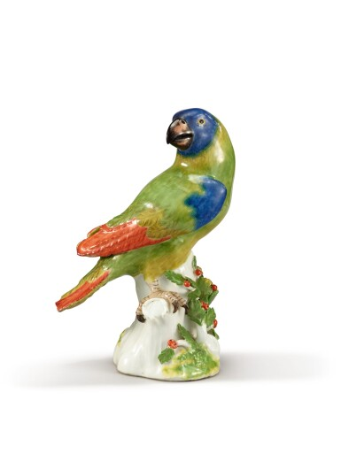 View 1. Thumbnail of Lot 206. A MEISSEN FIGURE OF A PARROT, CIRCA 1745.