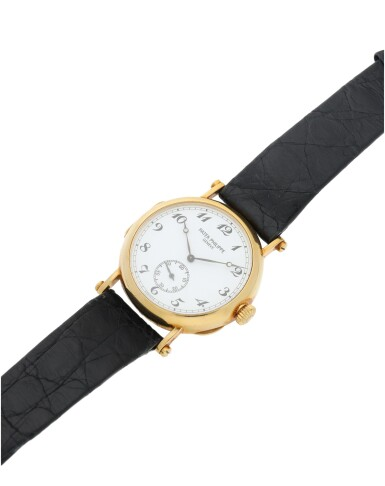 View 6. Thumbnail of Lot 40. REFERENCE 3960J 150TH ANNIVERSARY OFFICIER A LIMITED EDTION YELLOW GOLD WRISTWATCH, MADE IN 1989.