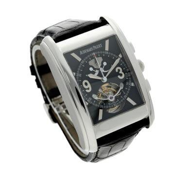 View 4. Thumbnail of Lot 370. Reference 25958PT Edward Piguet Tradition D'excellence Tourbillion  A limited edition platinum tourbillon chronograph wristwatch with dynamograph indication, Circa 2002 .