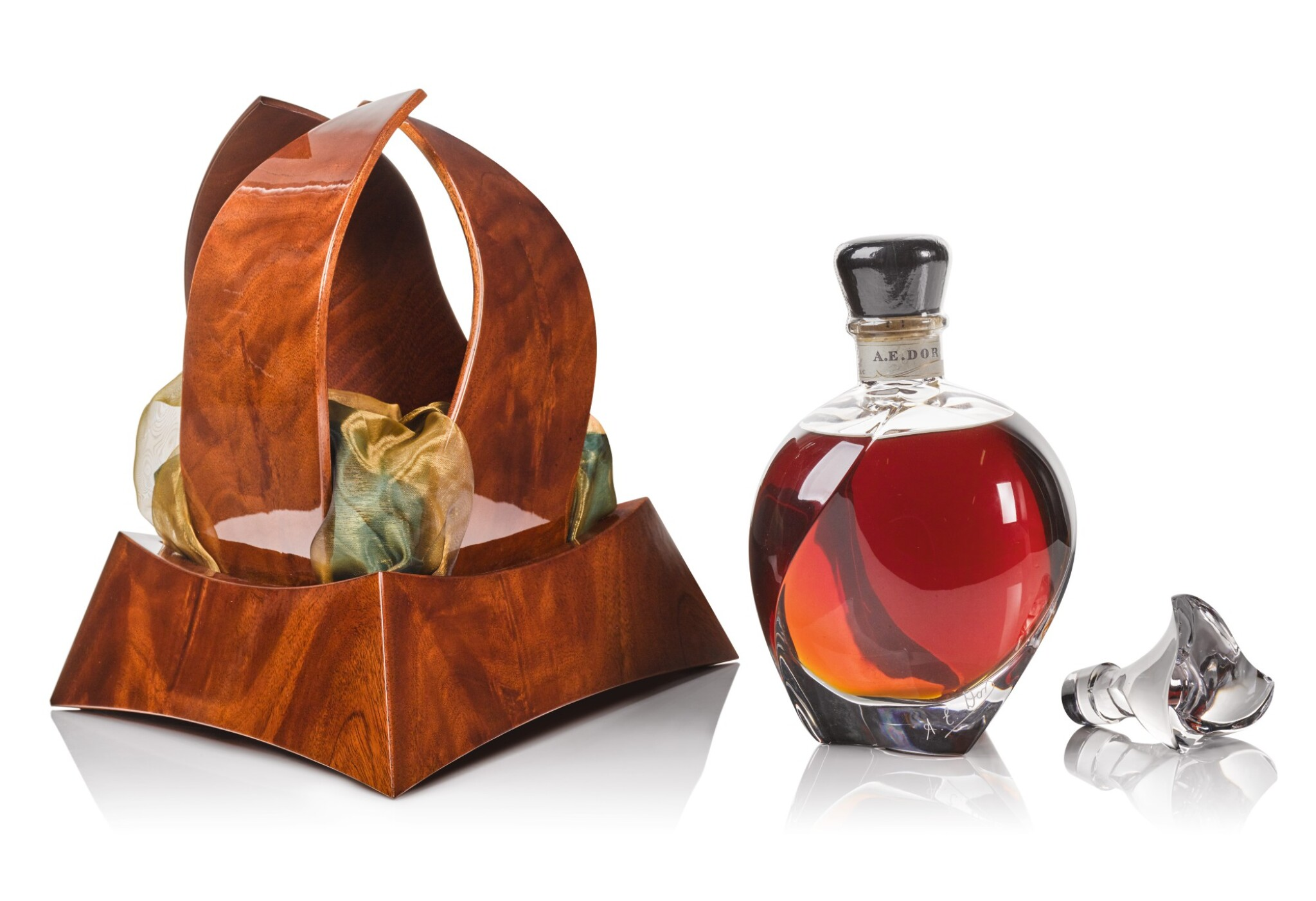 View full screen - View 1 of Lot 125. A.E. D'Or Sign of Time Decanter 40.0 abv NV .