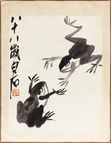 View 2. Thumbnail of Lot 151. Qi Baishi (1864-1957) Grenouilles | 齊白石 雙蛙圖 | Qi Baishi (1864-1957) Frogs.