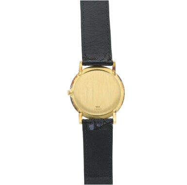 View 5. Thumbnail of Lot 71. RETAILED BY CARTIER: A YELLOW GOLD WRISTWATCH, CIRCA 1970.