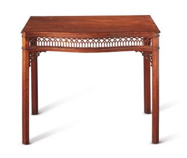 View 2. Thumbnail of Lot 505.  A GEORGE III MAHOGANY SIDE TABLE, CIRCA 1760.
