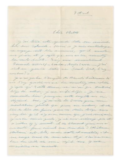 View 3. Thumbnail of Lot 120.  Importante correspondance à Violette Leduc dévoilant leur amitié littéraire. 297 lettres.
