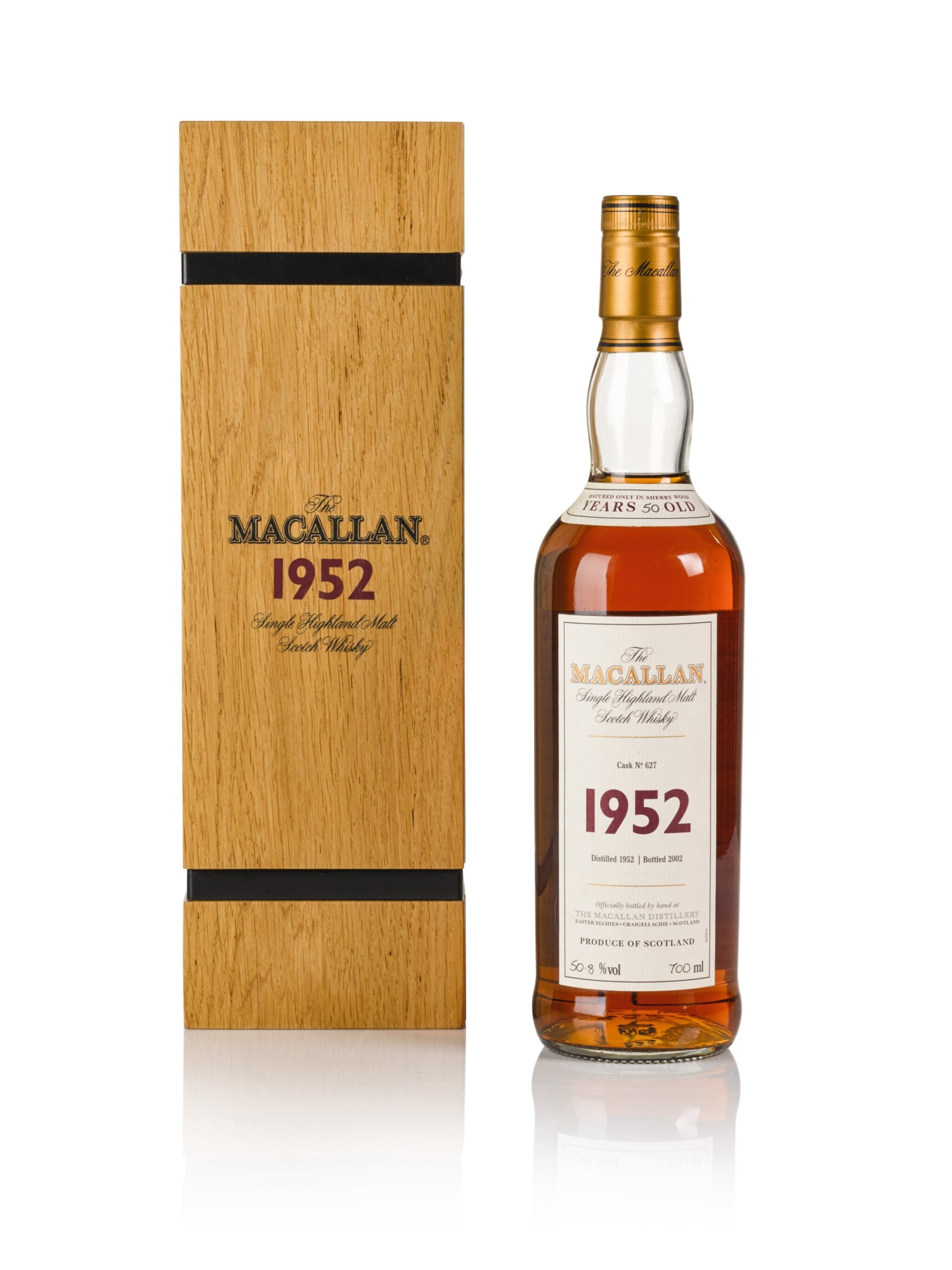 View full screen - View 1 of Lot 19. The Macallan Fine & Rare 50 Year Old 50.8 abv 1952 .