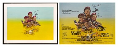 THE WILD GEESE (1978) ORIGINAL ARTWORK AND POSTER, BRITISH