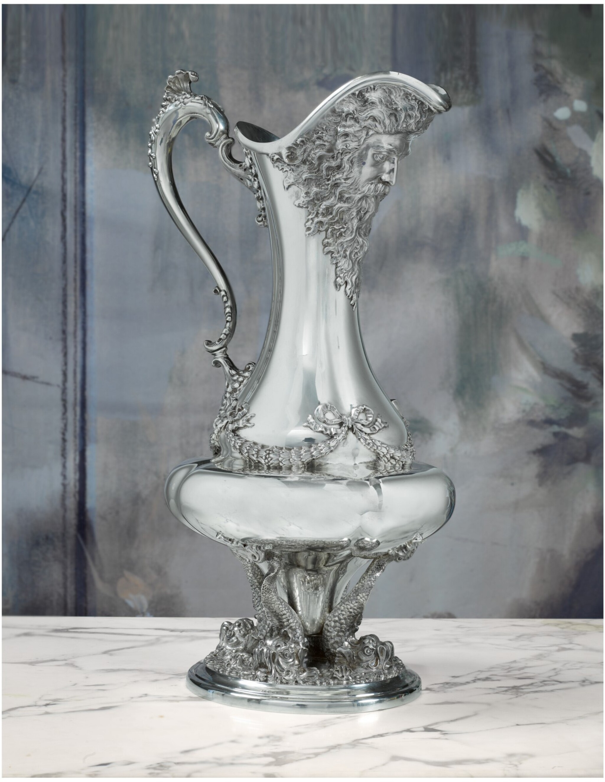 A LARGE AMERICAN SILVER EWER, BLACK STARR AND FROST, NEW YORK, CIRCA 1895