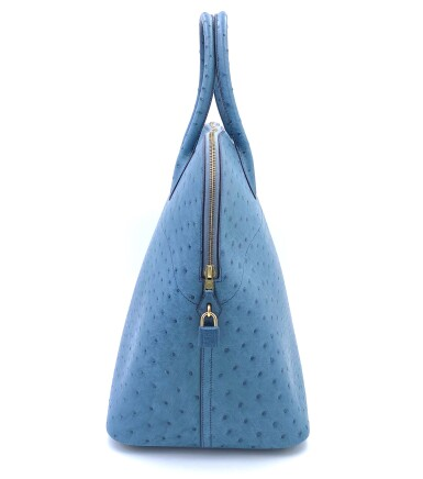 View 4. Thumbnail of Lot 343. Teal Bolide 45cm in Ostrich Leather with Gold Hardware, 1997.